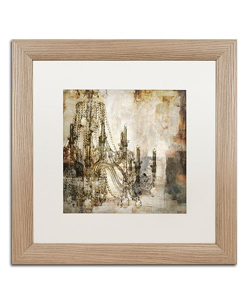 """Trademark Global Color Bakery 'Lumi'res I' Matted Framed Art, 16"""" x 16"""""""