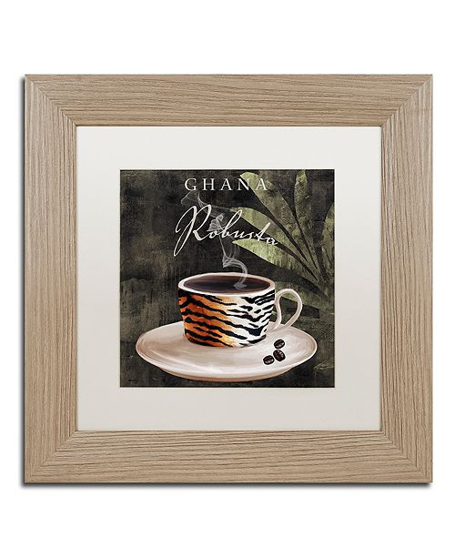 """Trademark Global Color Bakery 'Afrikan Coffee Iv' Matted Framed Art, 11"""" x 11"""""""