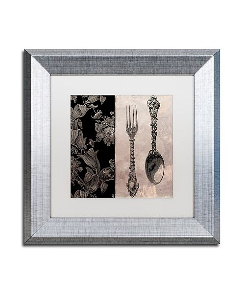 """Trademark Global Color Bakery 'Victorian Table Iv' Matted Framed Art, 11"""" x 11"""""""