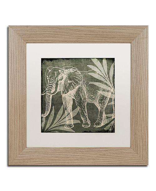 "Trademark Global Color Bakery 'Elephant 1' Matted Framed Art, 11"" x 11"""