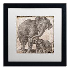 Color Bakery 'Elephant 2' Matted Framed Art