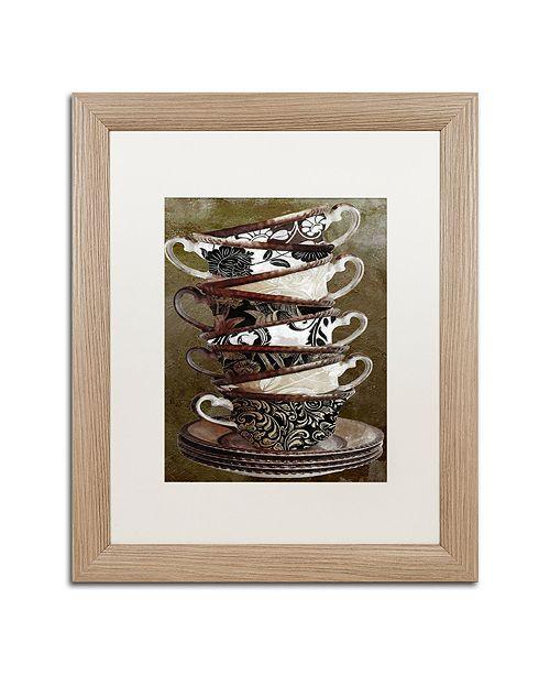 "Trademark Global Color Bakery 'Afternoon Tea Ii' Matted Framed Art, 16"" x 20"""