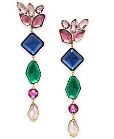 kate spade new york Gold-Tone Multi-Crystal Statement Earrings