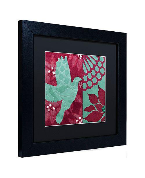 "Trademark Global Color Bakery 'Woodland Winter Iii' Matted Framed Art, 11"" x 11"""