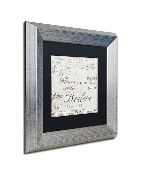 "Trademark Global Color Bakery 'Bon Mots I' Matted Framed Art, 11"" x 11"""