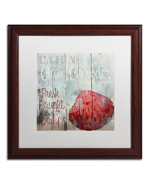 "Trademark Global Color Bakery 'New Orleans Seafood Iv' Matted Framed Art, 16"" x 16"""