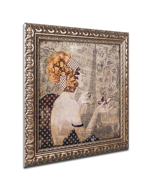 "Trademark Global Color Bakery 'A Date With Paris' Ornate Framed Art, 14.75"" x 14.75"""