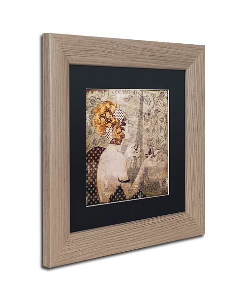 """Trademark Global Color Bakery 'A Date With Paris' Matted Framed Art, 11"""" x 11"""""""