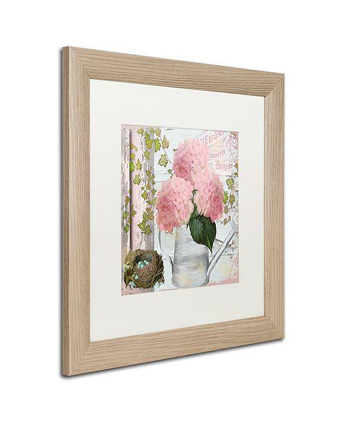 "Trademark Global Color Bakery 'Chalet D'Ete Hydrangea' Matted Framed Art, 16"" x 16"""
