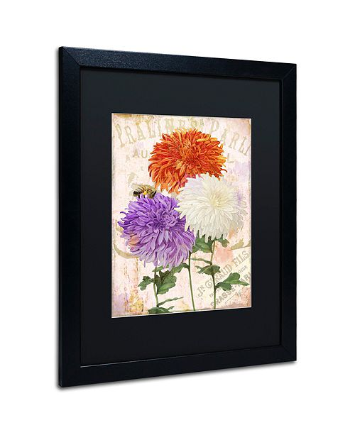 "Trademark Global Color Bakery 'Chrysanthemums' Matted Framed Art, 16"" x 20"""