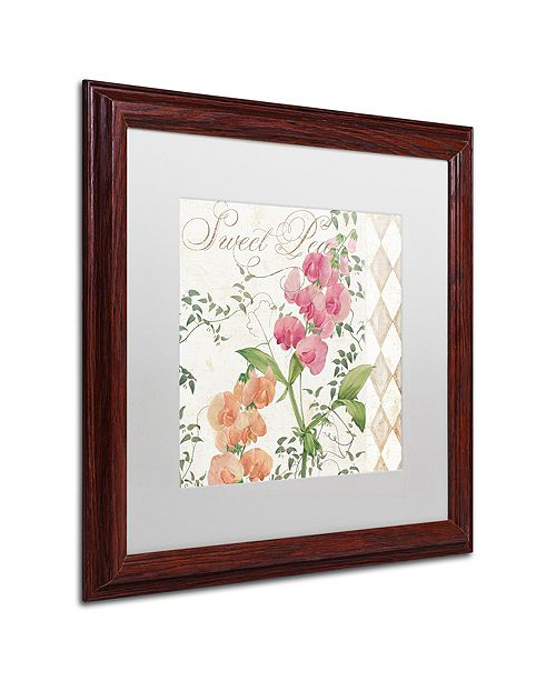 """Trademark Global Color Bakery 'Sweet Pea' Matted Framed Art, 16"""" x 16"""""""