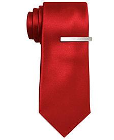 Alfani Men's Red Skinny Tie, Created for Macy's