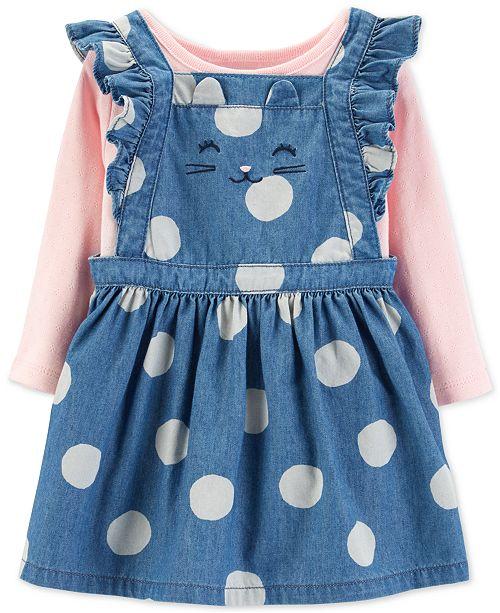 388e0a2c6b30 Carter s Baby Girls 2-Pc. Cotton Pointelle Bodysuit   Dot-Print ...