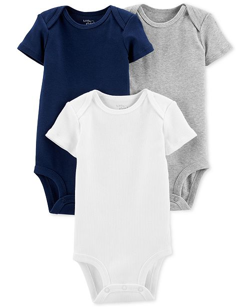 caaea2671 Carter s Little Planet Organics Baby Boys 3-Pk. Cotton Bodysuits ...