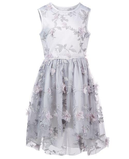 e0ed168b4f1 Nanette Lepore Big Girls Embroidered 3D Flower Dress   Reviews ...