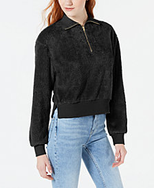 Material Girl Juniors' Plush Half-Zip Pullover, Created for Macy's