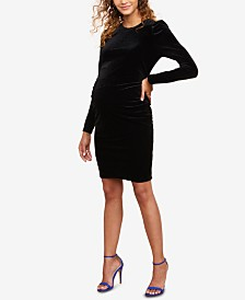 Motherhood Maternity Velvet Dress