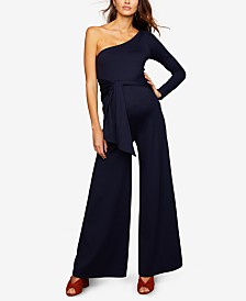 A Pea In The Pod Maternity One-Shoulder Jumpsuit