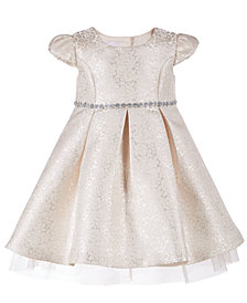 Bonnie Baby Baby Girls Metallic Brocade Dress