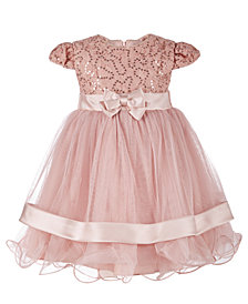 Bonnie Baby Baby Girls Sequin Lace Ballerina Dress