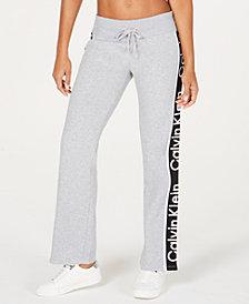 Calvin Klein Performance Logo High-Rise Flared-Leg Joggers
