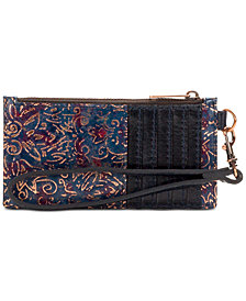 Patricia Nash Almeria Printed Leather Wristlet