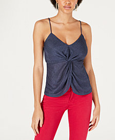 Socialite Adjustable Twist-Front Top