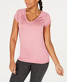 Ideology Striped V-Neck T-Shirt, Created for Macy's