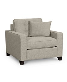 "Clarke II 40"" Fabric Armchair, Created for Macy's"