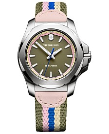 Victorinox Swiss Army Women's Swiss I.N.O.X  V Multi-Colored Fabric Strap Watch 37mm
