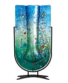 """22"""" x 11.5"""" Tall U Vase Fused Glass"""