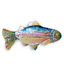 "18"" Rainbow Fish Plate"