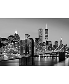 Manhattan Skyline At Night Wall Mural