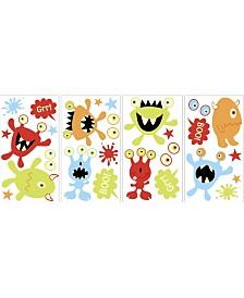 Little Monsters Glow In The Dark Wall Art Kit