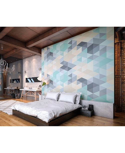 Brewster Home Fashions Pastel Triangles Wall Mural