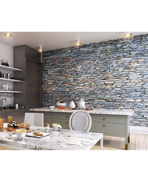 Brewster Home Fashions Slate Wall Mural
