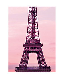 Eiffel Tower At Sunset Wall Mural