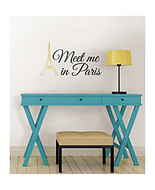 Meet Me In Paris Wall Quote