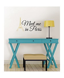 Meet Me In Paris Wall Quote
