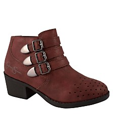 Red Athena Bootie