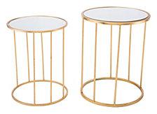 Finita Set Of 2 Nesting Round Tables Gld