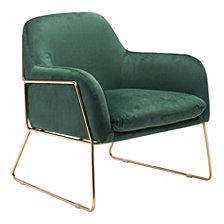 Nadir Arm Chair Green Velvet