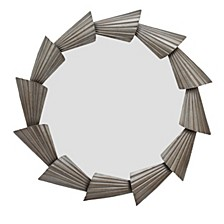 Abani Round Mirror Silver