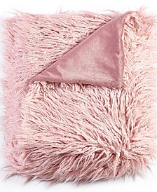 Mongolian Textured Faux Fur Throw