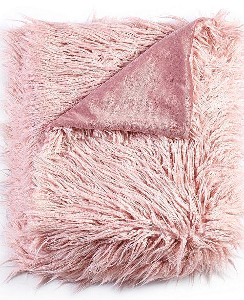 De Moocci Mongolian Textured Faux Fur Throw