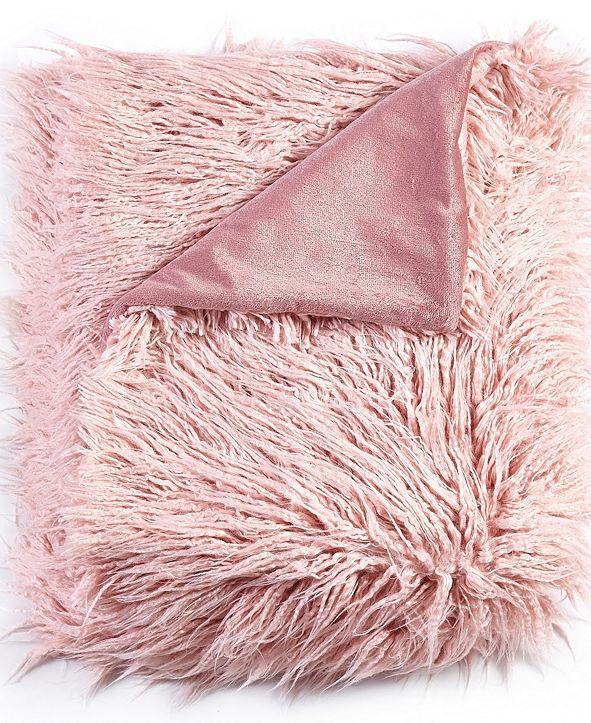 De Moocci Mongolian Textured Faux Fur Throw - 50 x 60