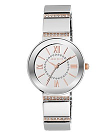 Sunray Dial with Roman Numerals and Swarovski Crystals Watch