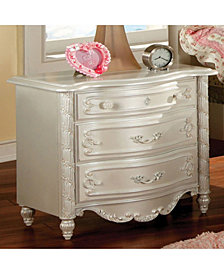Transitional Style Night Stand, Pearl White