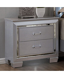 Contemporary Style Night Stand, Silver