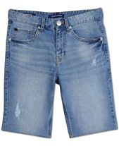 5cc0be5bdd3 Calvin Klein Big Boys Rip   Repair Denim Jean Shorts